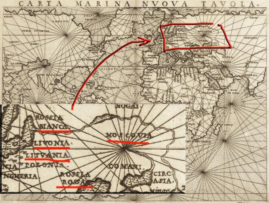 Русь-Украина на средневековых картах